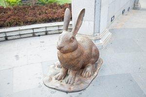 Rabbit statue.