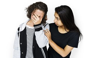 Friends crying sadness (PNG)