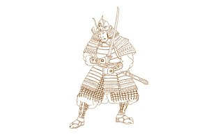 Bushi Samurai Warrior Drawing