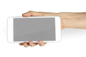 Hand Holding Smart Phone (PNG)