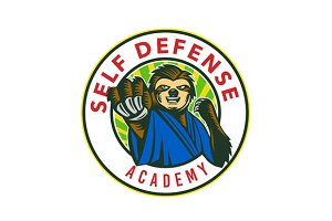 Sloth Karate Self Defense Badge