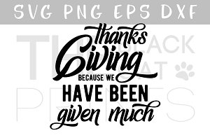 Thanksgiving SVG DXF PNG EPS