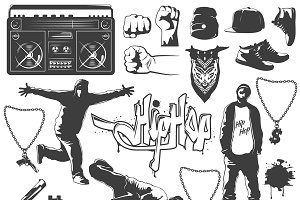 Hip Hop Icon Set
