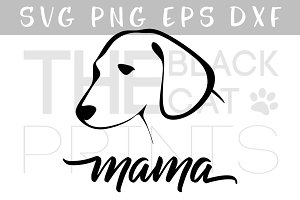 Dog mama SVG DXF PNG EPS