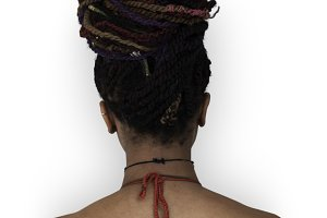 African Descent Woman Back (PNG)