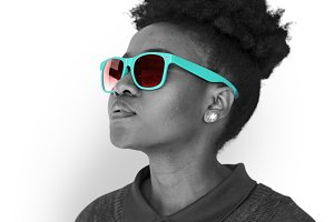 Descent Female Sunglasses (PNG)