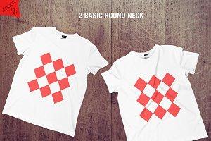 8 Realistic T-shirts Mockup -FLOOR