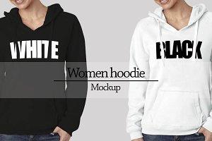 Women hoodie mockup Vr2
