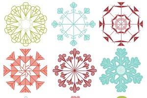 Mod Snowflakes Photoshop Brushes