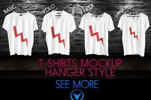 4 Realistic Mockup Tshirt Wit Hanger