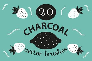 Charcoal Illustrator Brushes