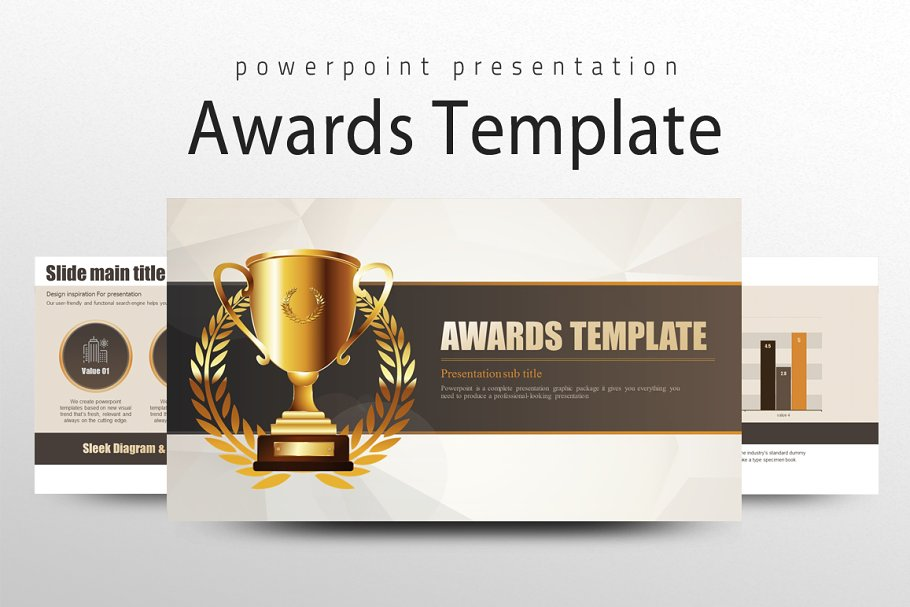 Awards Template Powerpoint Templates Creative Market