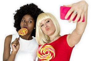 Friends Candy Taking Selfie (PNG)