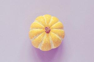 Yellow pumpkin, minimal style