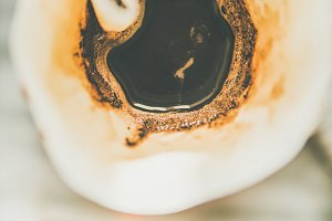 Top view of coffee brewed