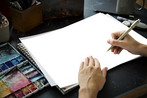 Drawing Illustartion Paper (PNG)