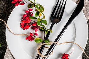 Autumn set of cutlery