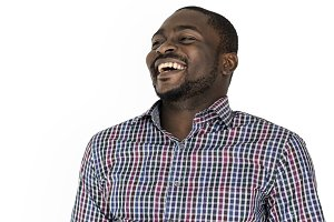 African Man Smiling Happiness (PNG)
