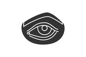 Woman's eye glyph icon