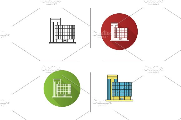 Office Building Icon Icons Creative Market