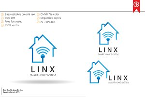 Technology Home System Logo Template