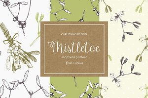Vintage Mistletoe Patterns