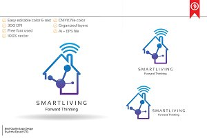 Smart System Home Logo Template