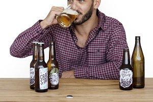 Man Beer Drinks Alocohol (PNG)
