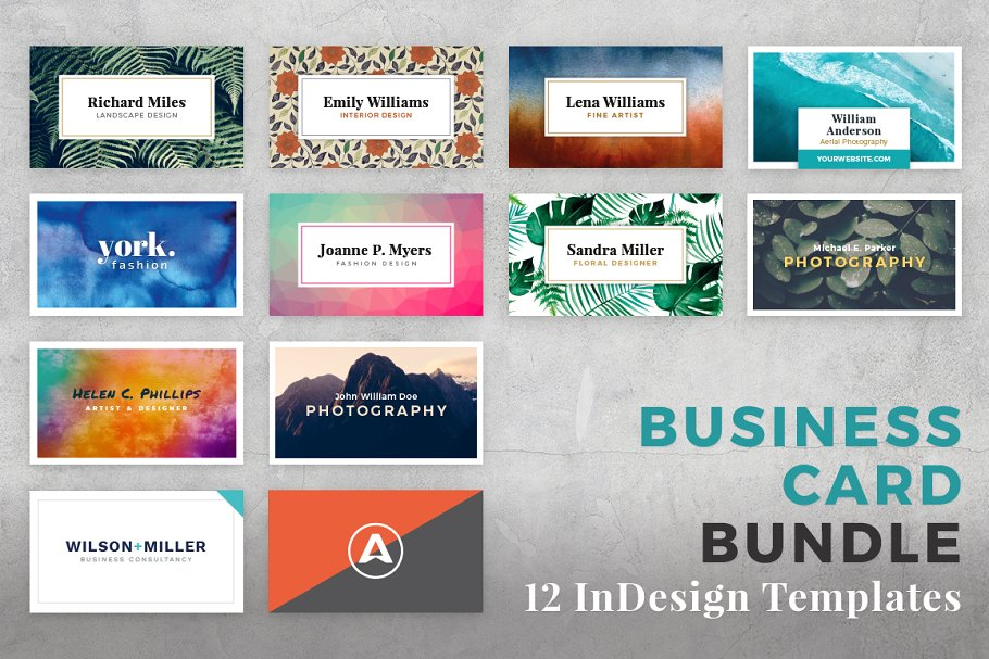 Business card bundle for indesign business card templates previous fbccfo Choice Image