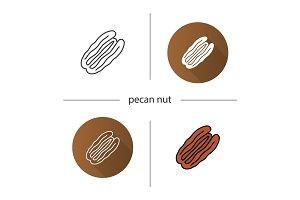 Pecan nut icon