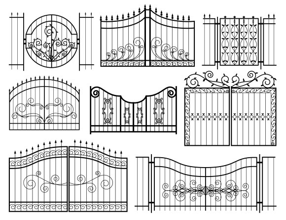 Iron Gates Icons Graphic Objects Creative Market