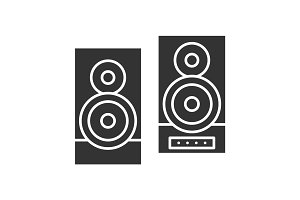 Stereo system glyph icon