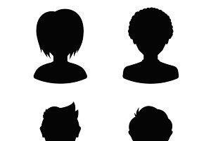 Avatar profile silhouettes
