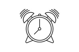 Alarm clock linear icon