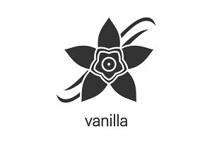 Vanilla flower glyph icon