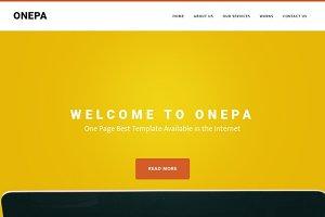 OnePa - Responsive HTML5 Template