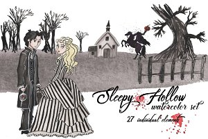 Sleepy Hollow Watercolor set!