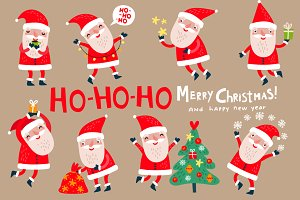 8 cute Santa Clauses