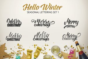 Hello Winter Lettering Set Part 1