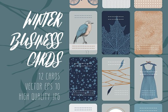 Winter Business Cards-Graphicriver中文最全的素材分享平台