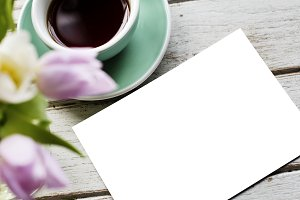 Design Paper Flowers and Coffee(PNG)