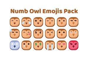 Numb Owl Emojis Pack