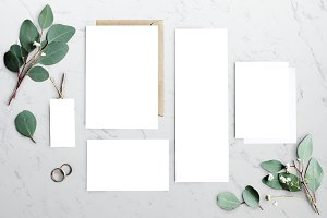 Blank paper card greeting (PNG)