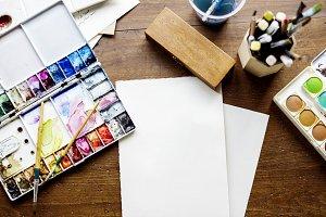 Design Paper Color Paints  (PNG)