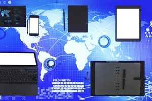 Digital device on a cyber space(PNG)