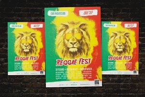 Reggae Fest Flyer