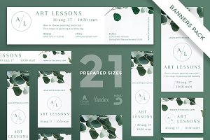 Banners Pack | Art Lessons