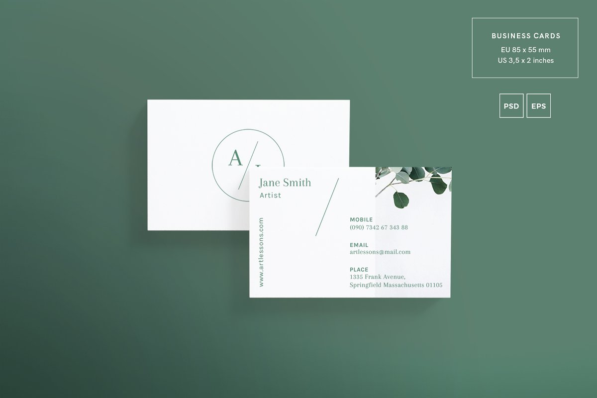 Business Cards | Art Lessons