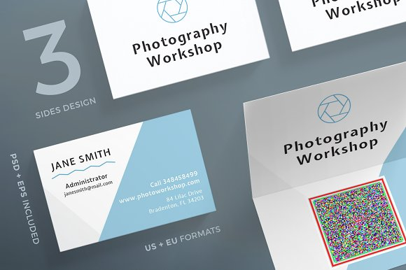 Business cards photography business card templates creative market reheart Images