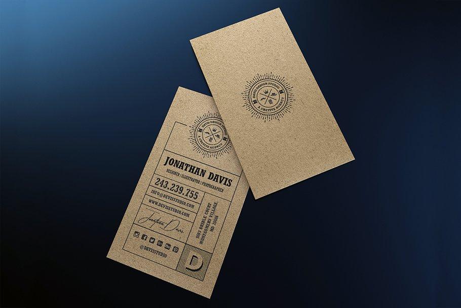 kraft paper business card bundle  creative business card